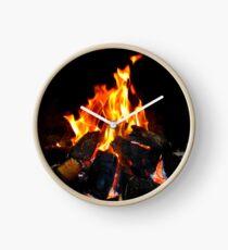 The Warmth Of An Irish Turf Fire Clock