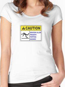 Grayson Allen Tripping Hazard Women's Fitted Scoop T-Shirt