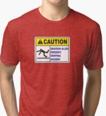 Grayson Allen Tripping Hazard Tri-blend T-Shirt