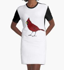 Cardinal Graphic T-Shirt Dress