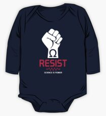Resist T-Shirt: Science is Power One Piece - Long Sleeve
