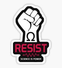 Resist T-Shirt: Science is Power Sticker