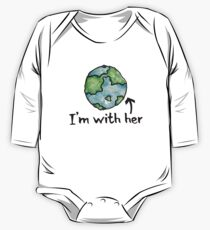 I'm with her mother earth day One Piece - Long Sleeve