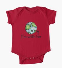 I'm with her mother earth day One Piece - Short Sleeve