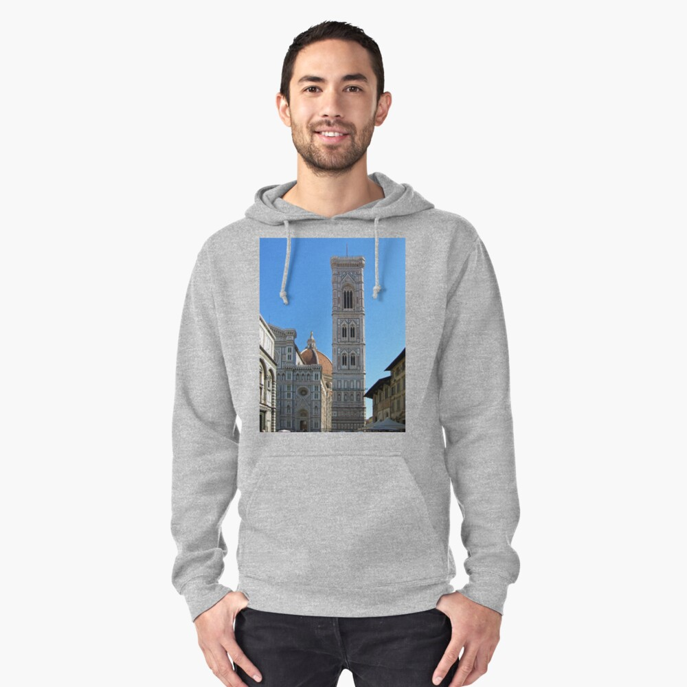 Campanile Tower and Duomo, Florence Pullover Hoodie Front