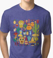 Fiesta Pattern Tri-blend T-Shirt