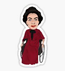What Ever Happened to Baby Jane Inspired Bette Davis Joan Crawford Illustration Sticker