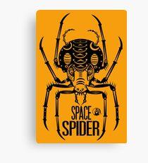 Space Spider! (black) Canvas Print