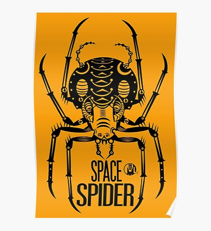 Space Spider! (black) Poster