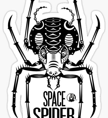 Space Spider! (black) Sticker