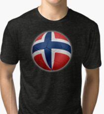 Norway - Norwegian Flag - Football or Soccer 2 Tri-blend T-Shirt