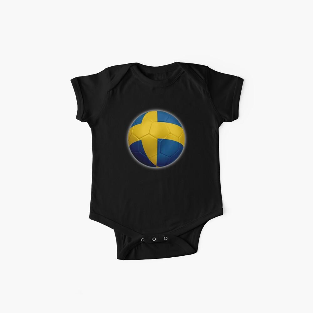 Schweden - Schwedische Flagge - Fußball oder Fußball 2 Baby Body