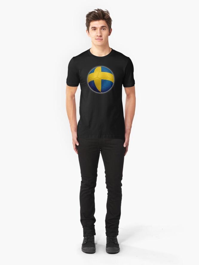 Alternative Ansicht von Schweden - Schwedische Flagge - Fußball oder Fußball 2 Slim Fit T-Shirt