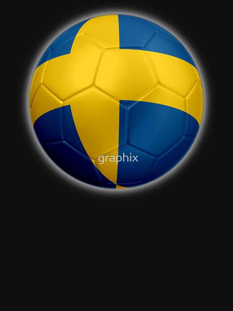 Schweden - Schwedische Flagge - Fußball oder Fußball 2 von graphix