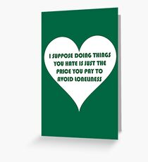Bad taste greeting cards redbubble peep show doing things you hate greeting card m4hsunfo