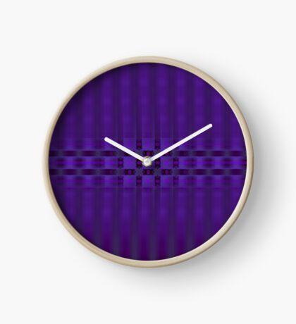 Streaks of Purple by Julie Everhart Clock