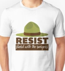 Resist and Stand With The Park Rangers T-Shirt