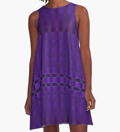 Streaks of Purple by Julie Everhart A-Line Dress