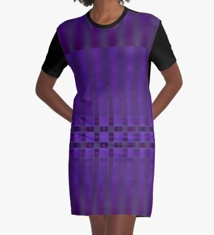 Streaks of Purple by Julie Everhart Graphic T-Shirt Dress