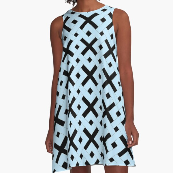 Geometric Weave A-Line Dress