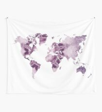 world map art 7 Wall Tapestry