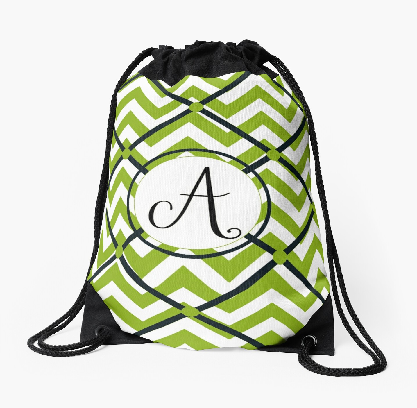 Awesome Chevron A by MonogramMonkey