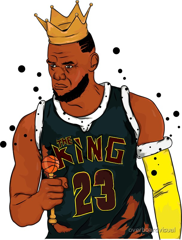Quot Lebron James Quot Stickers By Overboardvisual Redbubble