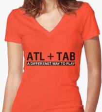 ALT + TAB Women's Fitted V-Neck T-Shirt