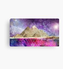 Pyramids Sacred Geometry Canvas Print