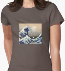 The Great Wave off Kanagawa Womens Fitted T-Shirt