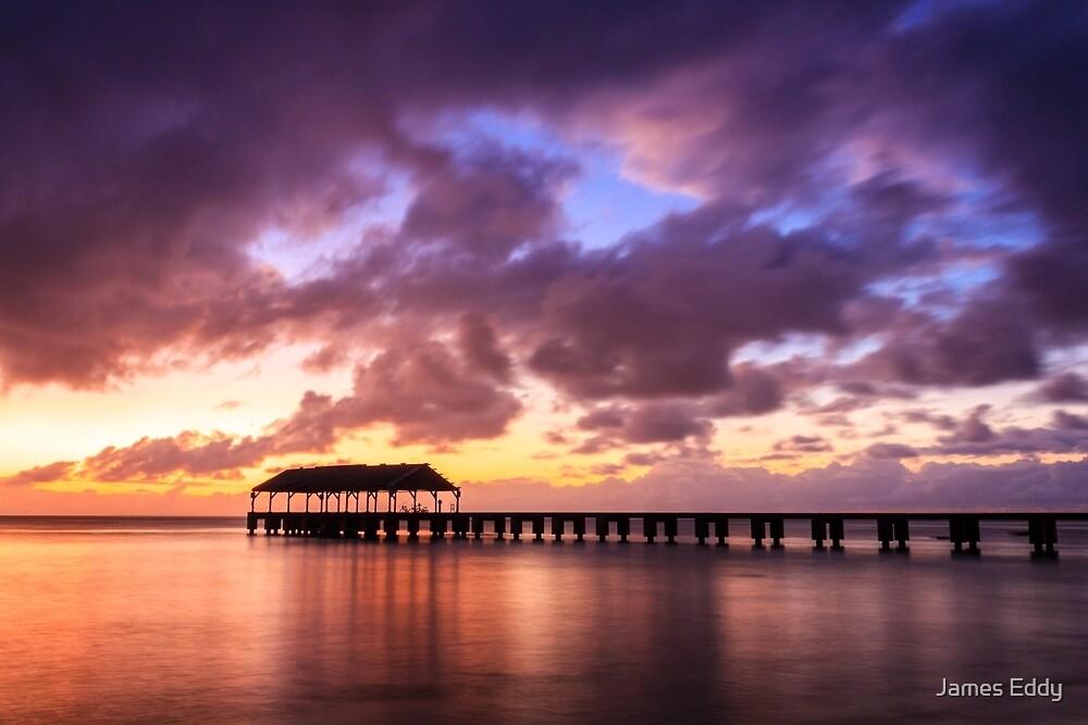 Hanalei Pier by James Eddy