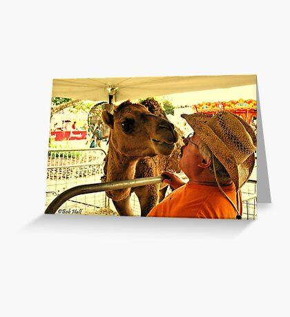 """""""Finally, Face to Face! This Tent isn't Big Enough for the Both of Us.""""... prints and products Greeting Card"""
