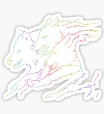 Luminescent Wolves Sticker