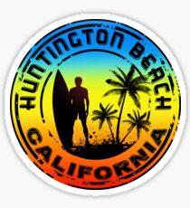 Surfing HUNTINGTON BEACH CALIFORNIA Surf Surfer Surfboard Waves Ocean Sticker
