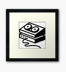 Old-fashioned tape recorder Framed Print