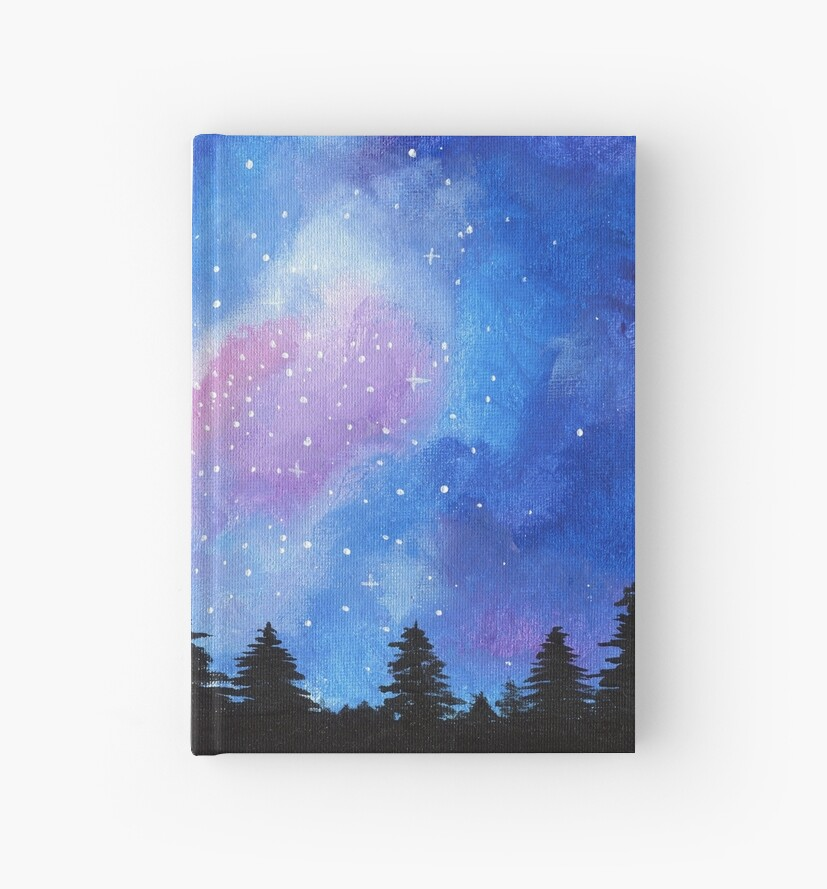 galaxy painting hardcover journals by jen aranyi redbubble