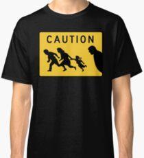 Immigrants Caution Road Sign Classic T-Shirt