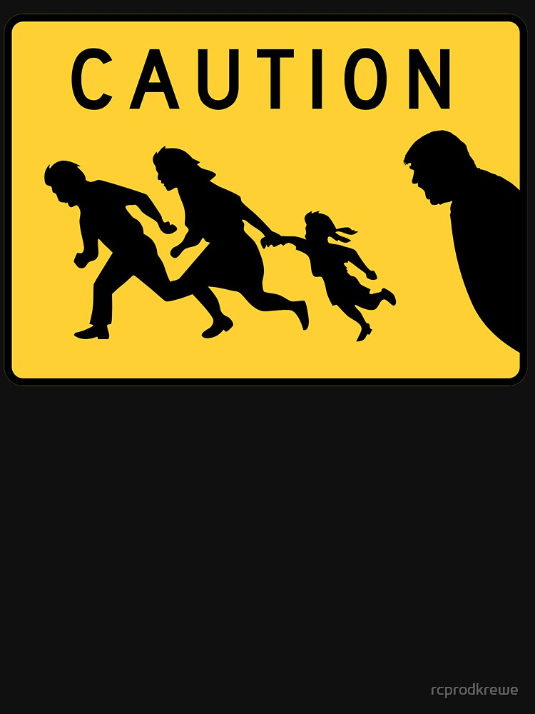 Immigrants Caution Road Sign by rcprodkrewe