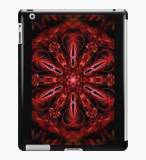psychedelic fractal valentine mandala iPad Case/Skin