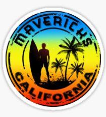 Surfing Mavericks Maverick's California Surf Surfboard Waves Half Moon Bay 2 Sticker