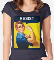 Resist - Rosie the Riveter Women's Fitted Scoop T-Shirt