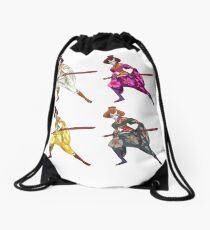 Geisha Samurais Drawstring Bag