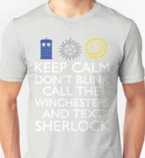 SUPERWHOLOCK SUPERNATURAL DOCTOR WHO SHERLOCK Unisex T-Shirt