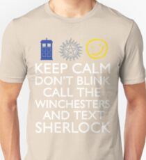 SUPERWHOLOCK SUPERNATURAL DOCTOR WHO SHERLOCK Unisex T-Shirt