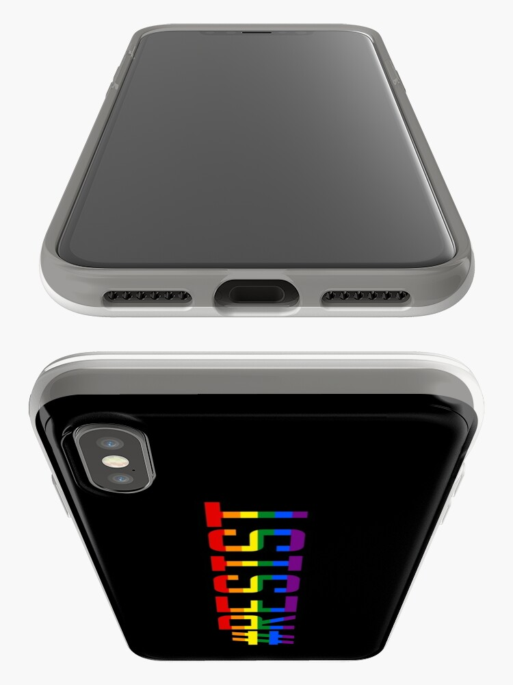 Alternate view of #Resist Pride Flag iPhone Case & Cover