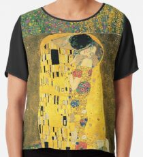 Gustav Klimt- The Kiss Chiffon Top