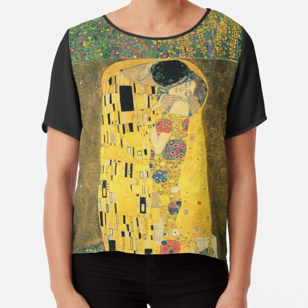 Gustav Klimt- The Kiss Chiffon Top