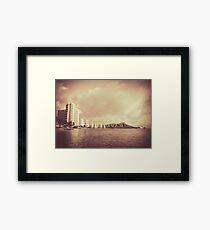 Vintage Photo Of Hawaii Beach Framed Print
