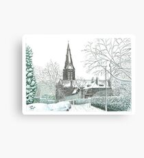 Horsforth Leeds Church in Winter Canvas Print