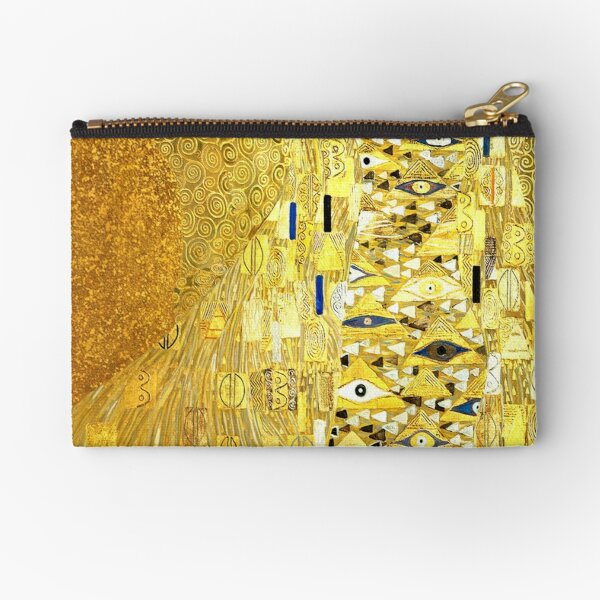 The Woman in Gold Zipper Pouch